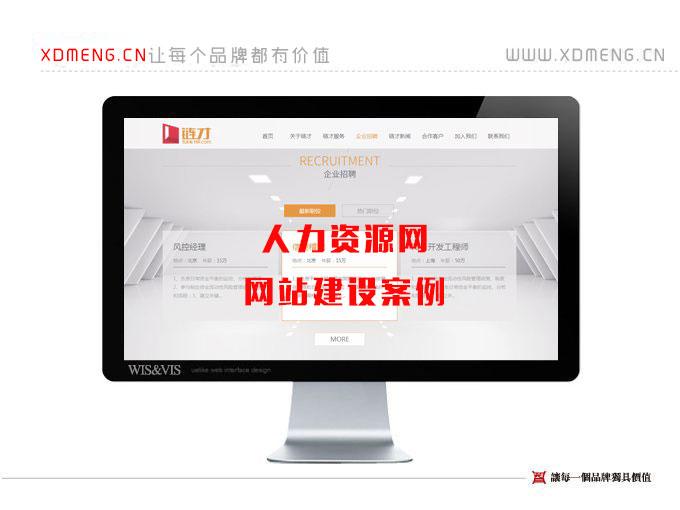 人力资源招聘网网站建设案例